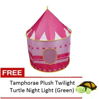 Kiddie Castle Tent (Pink) with FREE Amphorae Plush Twilight TurtleNight Light (Green) Price Philippines
