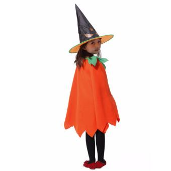 Kids Costume Halloween Costume Pumpkin Witch Costume Birthday Children Cosplay Party Photography Outfit Jack O Lantern Costume 4-5Yrs - 4
