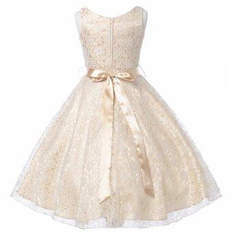 Kids Girls Lace Sleeveless Elegant Princess Birthday Party Dress -intl - 4