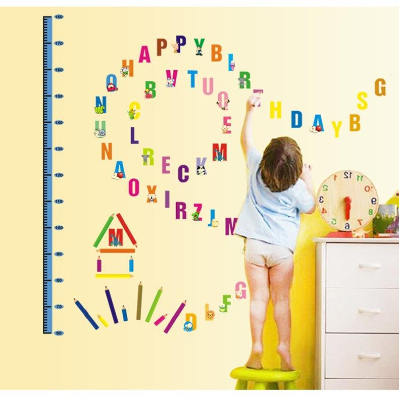 Philippines | Kids Growth Chart Height Measure Removeable Wall ...