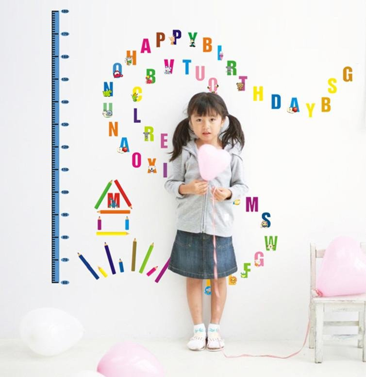 Philippines kids growth chart height measure removeable for Growth chart for kids room