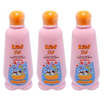 Kids Plus Yogurt Head-To-Toe Wash Strawberry Set of 3 200mL