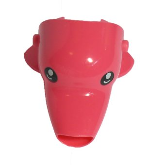 Kids Room Animal Faucet Extender (Pink Dolphin)