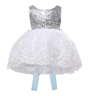 kids Sleeveless Summer Princess Baby Girls Clothes Infant PartyDress Birthday Frock Newborn Toddler Girl Gown Bowknot Lace - intl - 4