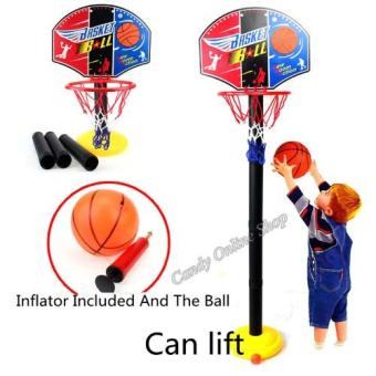 Kids Sports Portable Basketball Toy Set with Stand Ball & PumpToddler Baby