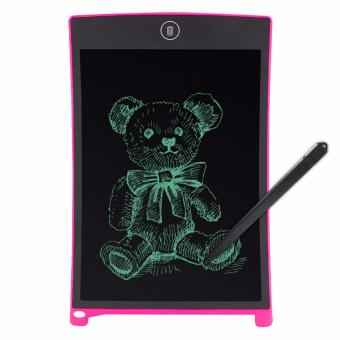Kingdo 8.5 LCD Writing Tablet Board Office Writing Board(Pink) withStylus Pen with Free LED Watch - 2