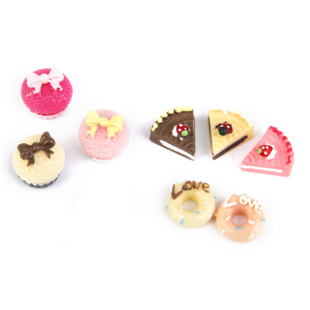 Kitchen Food Cakes Miniature 8pcs
