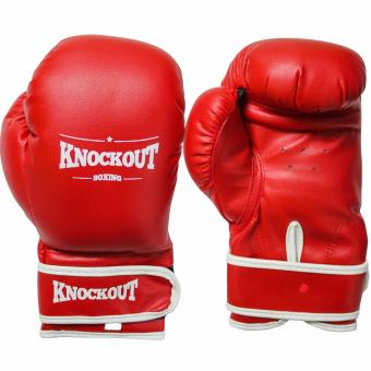Knockout Boxing Gloves Red 10oz