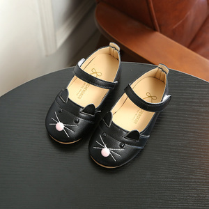 Korean-style autumn New style girls leather shoes Shoes