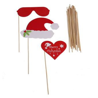 KUNPENG 27Pcs DIY Christmas Party Photo Booth Props Mask Deer MustacheGlasses - Intl - picture 3