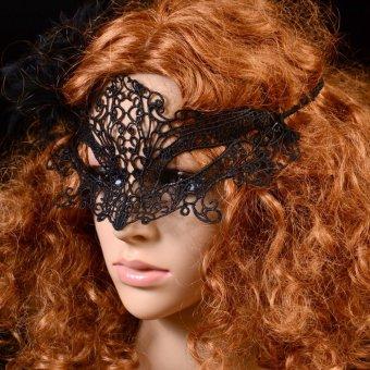 Lace Party Costume Eye Masks Women Eyewear Masquerad for Halloween- INTL - 3
