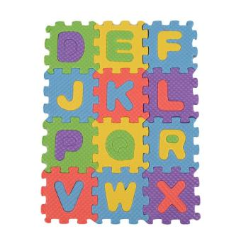 LALANG Colorful Puzzle Kids Baby Educational Toy A-Z Alphabet Letters Numeral Foam Mat (Multicolor) - Intl