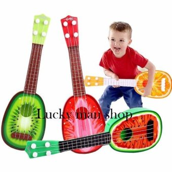 lazada and USA best selling Musical Guitar Toys 4 String AcousticGuitar Toy for Kids Mini Fruit Guitars