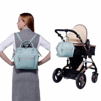 Lekebaby 2017 Fashion Diaper Tote Bag, Diaper Backpack-Mini (Green) - 2