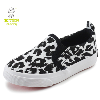 Leopord pattern New style Spring and Autumn children's canvas shoes