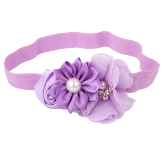 Light Purple Flower Baby Girls Headband Photography Props Hair Band