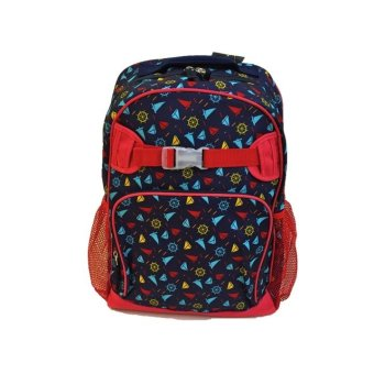 Lily and Tucker Sailor Large Backpack (Red/Blue)