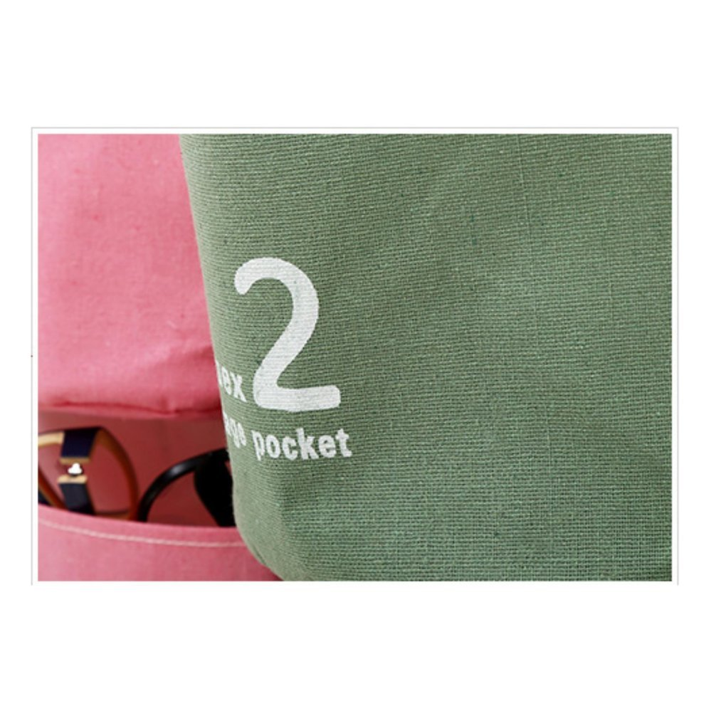 ... Linen Cotton Fabric Wall Door Cloth Hanging Storage Bag Case 3Pockets  Home Organizer   Intl ...
