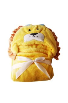 Lion Hooded Blanket (Yellow)