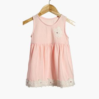 Little Miss Baby Girls Roses Fit and Flare Dress (Pink) Price Philippines