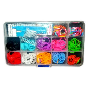 Loomies Hard Case Loom Band Rainbow (Multicolor)