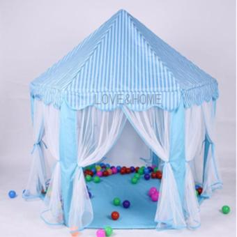 LOVE&HOME Portable Princess Castle Tent Play House for Kids(Blue) Price Philippines