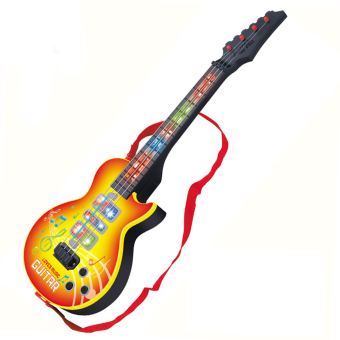 LT365 4 Strings Music Electric Guitar Kids Musical Instruments Educational Toy - Yellow