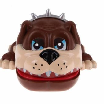 Lucky Dog Bulldog Mouth Dentist Bite Finger Game Funny Toy Gift(Brown) - 3