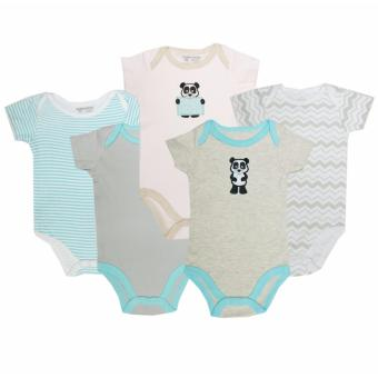Luvable Friends 5 Pack Bodysuit Panda for 6-9 Months Old
