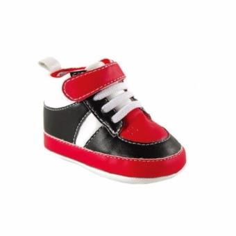 Luvable Friends Basketball Sneaker Badge Sole (Red/Black) For Baby6 to 12 Months Old