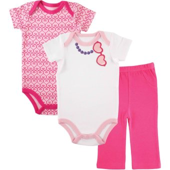 Luvable Friends Girls Bodysuit and Pants Set (83517)