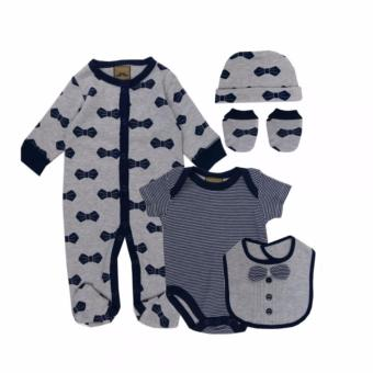 Luvena Fortuna 5 Piece Baby Boy Layette Set Bow Tie For 6-9 MonthsOld Price Philippines