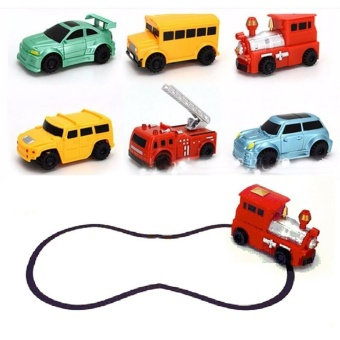 Magic Mini Pen Inductive Toy Vehicles Car Model Follow Any Draw lines Toys For Children Gift - intl - 2