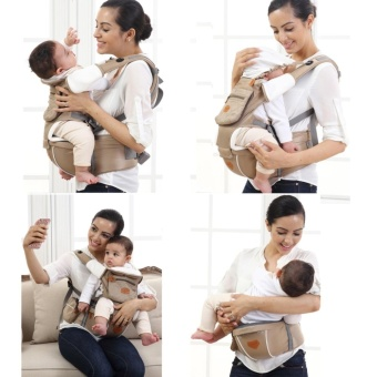Mambobaby Multifunctional 4-in-1 Baby Carrier with Hip Seat (Khaki)