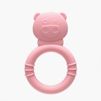 Marcus & Marcus Pig Silicone Teether Ring