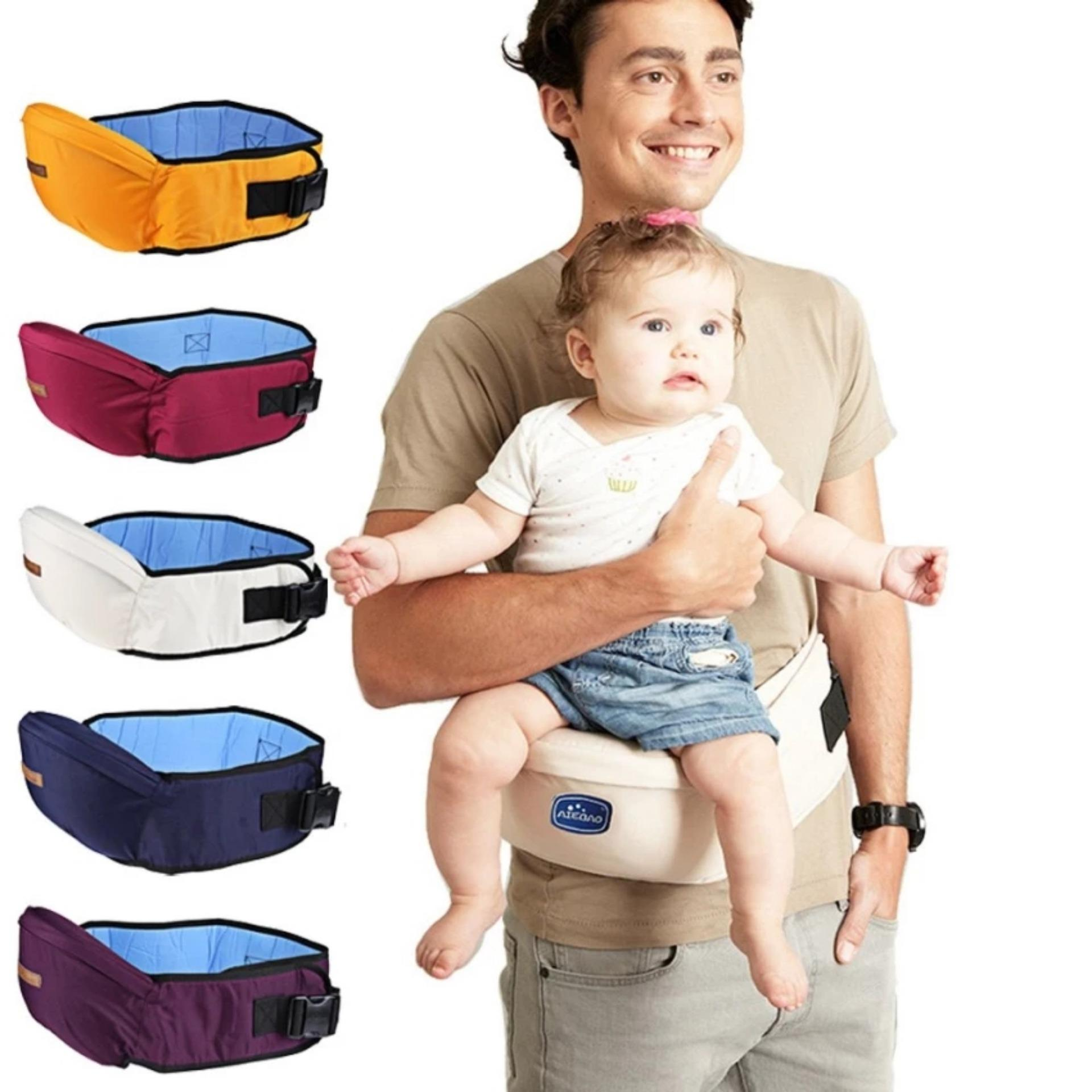 Marvogo Baby Carrier Waist Stool Walkers Baby Sling Hold Waist Belt Backpack Hipseat Belt Kids Infant Hip Seat-Purple - intl