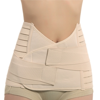 Maternity Tummy Support Abdominal Binder Belt- Body Form Fit Nude Color - Intl