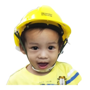 Meisons active kids party hat PE hard hat safety helmet with airflow YELLOW