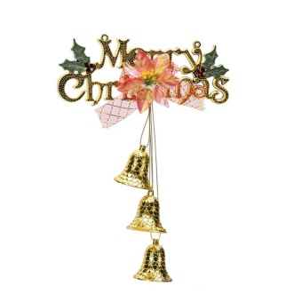 Merry Christmas Door Tree Hanging Decoration Home Xmas Santa PartyOrnaments Gold - intl