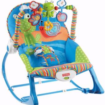 MG Fisher Price To Toddler Infant Rocking Chair (Blue)