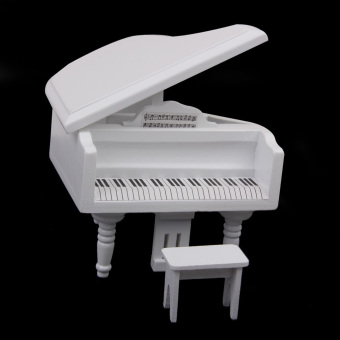 Miniature Wooden Piano with Stool - picture 2