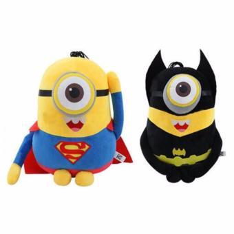 Minion Superhero Costume Cosplay Stuffed Toy 6 Piece Bundle (BatmanSuperman Spiderman Ironman Thor Captain America) - 2