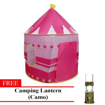 MMC Kiddie Castle Tent (Pink) with Free Camping Lantern (Army) Price Philippines