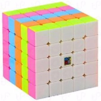 MoFang JiaoShi MF5 5x5x5 Rubik's Speed Magic Cube Pink Stickerless - 2