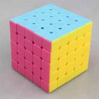 MoFang JiaoShi MF5 5x5x5 Rubik's Speed Magic Cube Pink Stickerless - 3