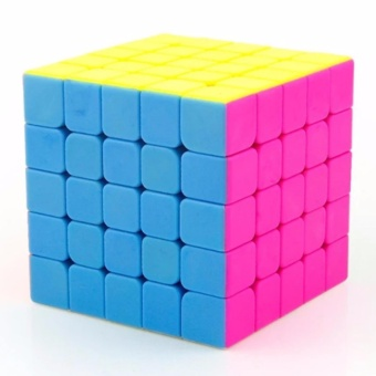 MoFang JiaoShi MF5 5x5x5 Rubik's Speed Magic Cube Pink Stickerless