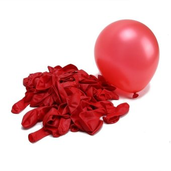 Multi Color Pearl Helium Latex Ballons Durable 100pcs Party WeddingBirthday Red