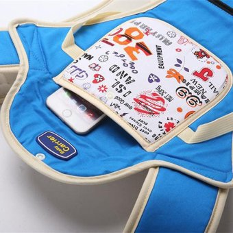Multi-fuctional baby carriers shoulders backpack with numbers (Blue) - 3