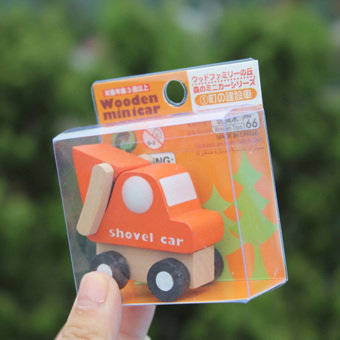 Multi-pattern Creative Toys Mini Wooden Car Model Baby KidEducational Gift - 3