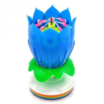 Musical Lotus Flower Rotating Candle Lights Happy Birthday PartyGift Price Philippines